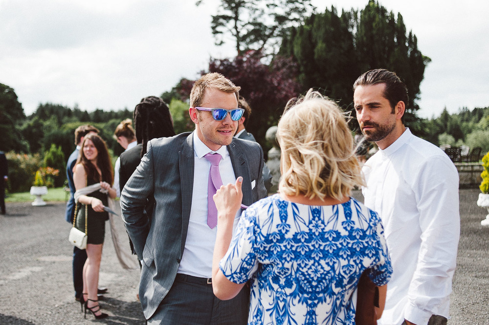 Wedding guests in sun glasses