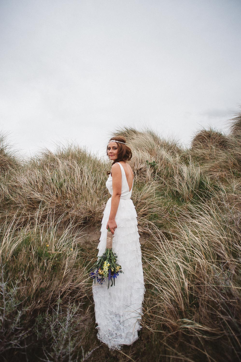 bride at dawros bay house wedding