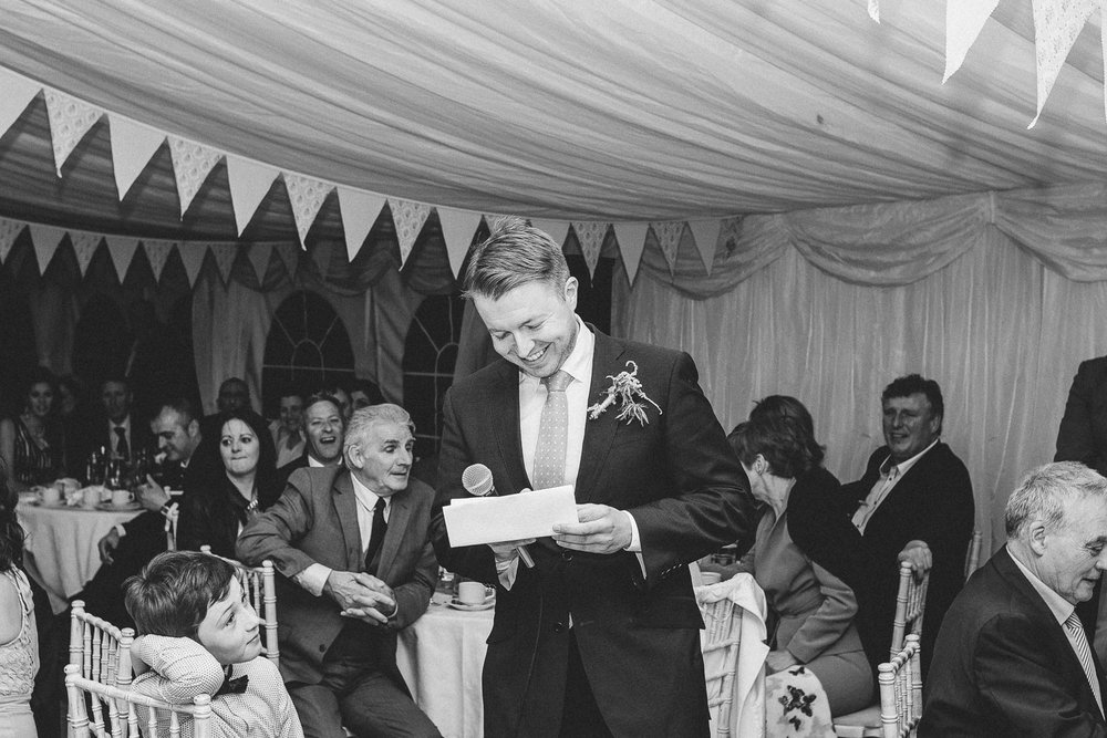 best man does his speech