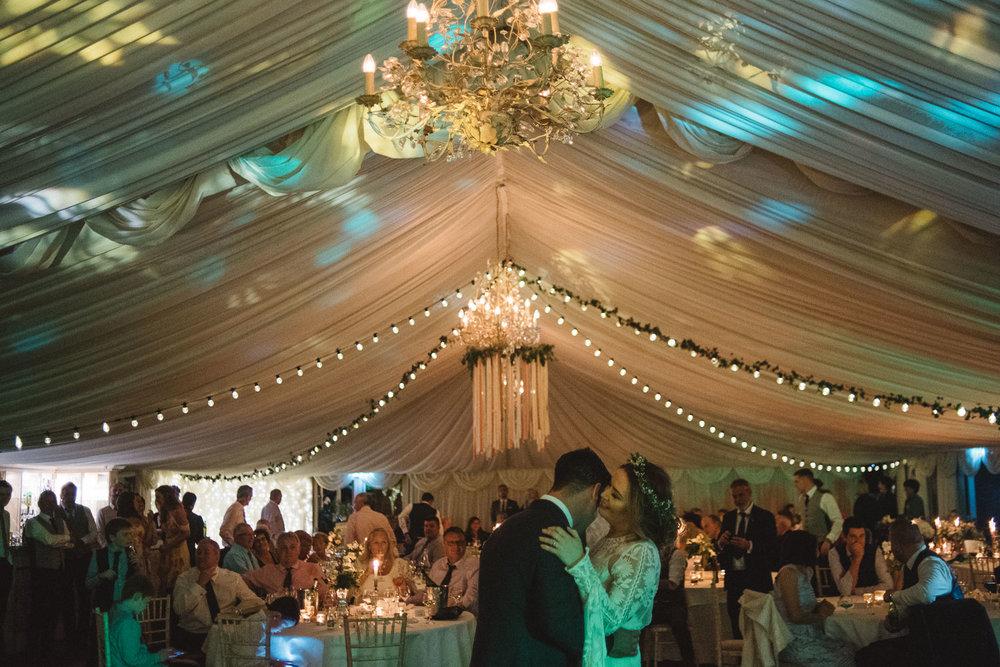 bride and groom first dance Castle Leslie Wedding.