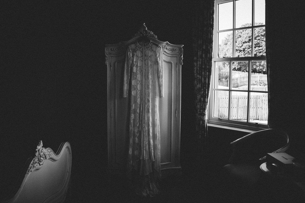 Wedding dress hanging Castle Leslie Wedding.