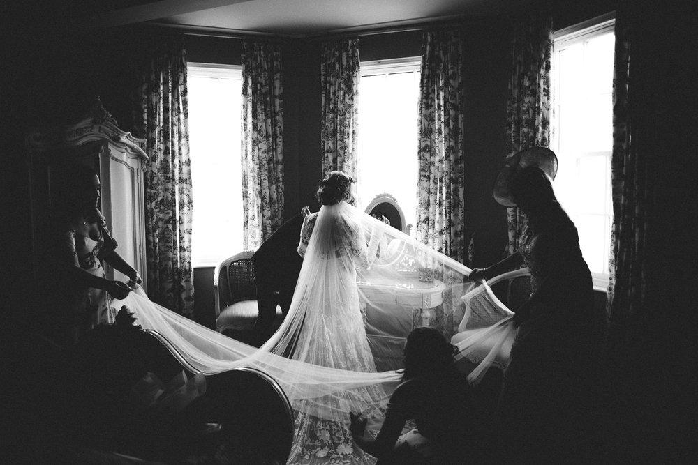 Birdes vile takes up the entire room. Castle Leslie Wedding.