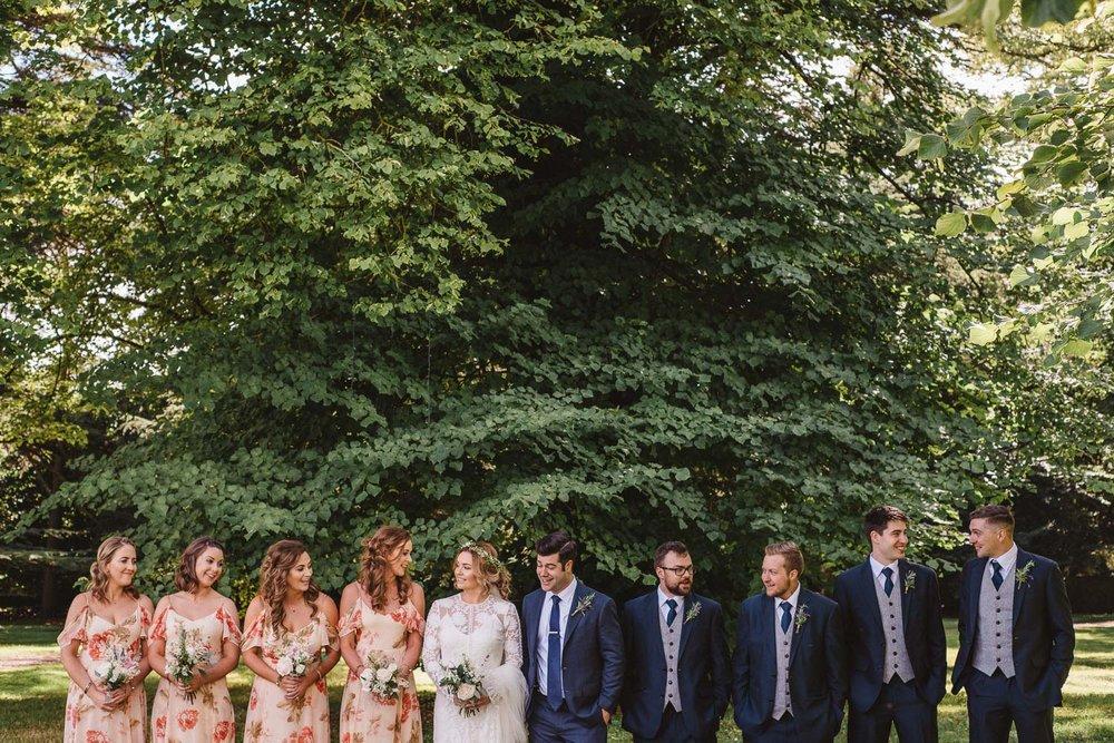 Full bridal party Castle Leslie Wedding.