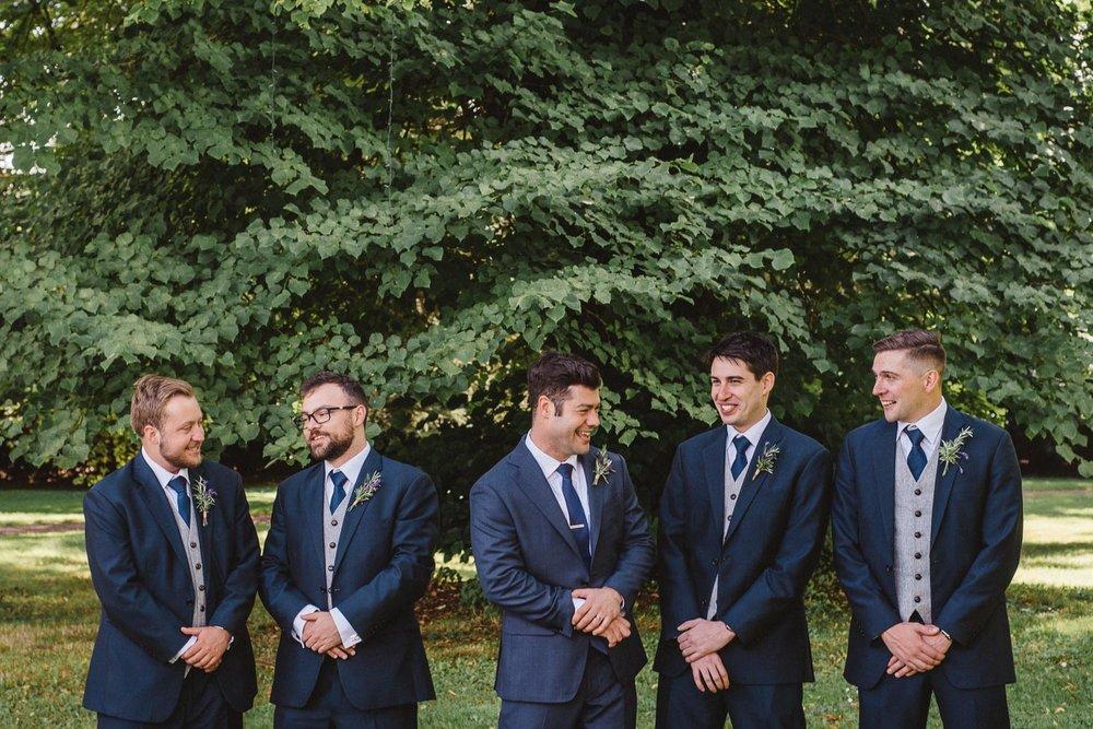 The groom and his groomsmen Castle Leslie Wedding.