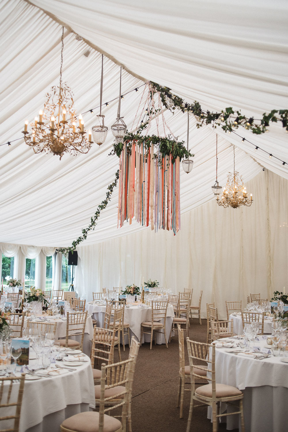 reception marquee at Castle Leslie Wedding.
