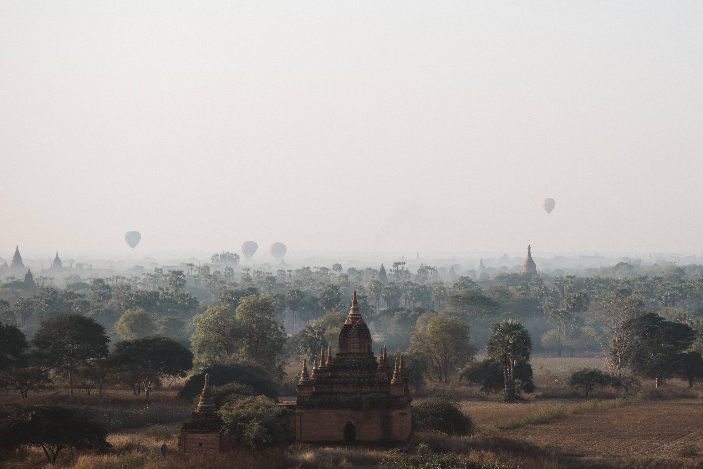 landscape photo of buddhist temples in Pagan, Myanmar