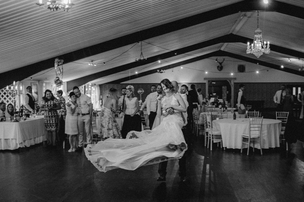dad swings bride on dancefloor