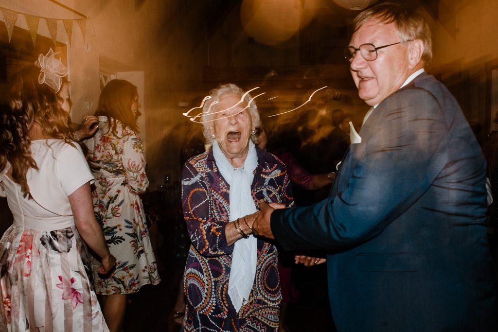 brides granny dancing