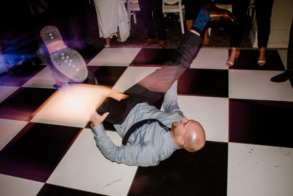 Mad dancing on dancefloor