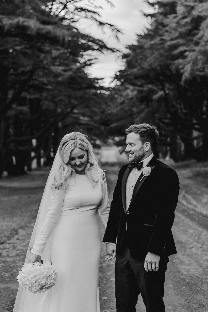 Groom looking loving long at bride. Slieve donard wedding