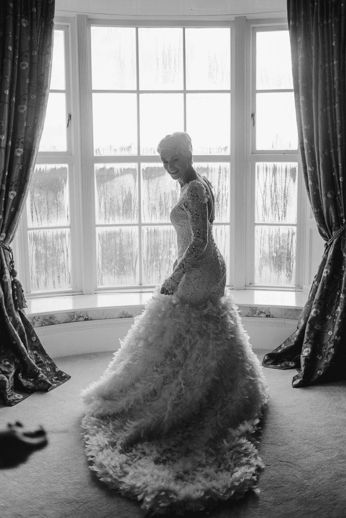 full length of bride dressed