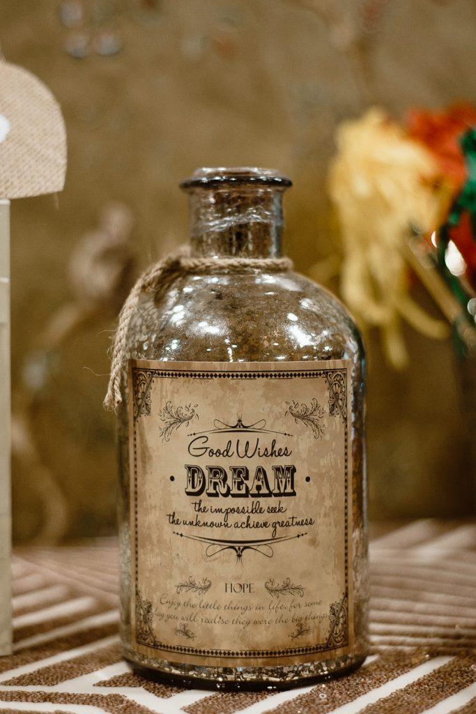 glass bottle detail