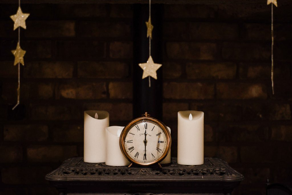 clock and candles