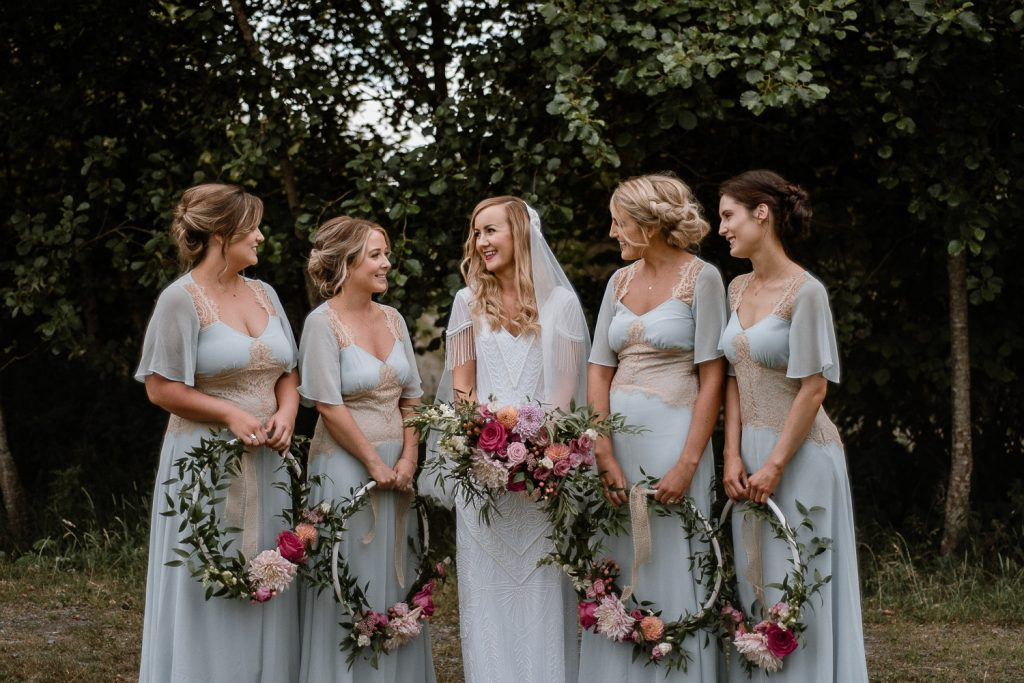 bridal party at mount druid.