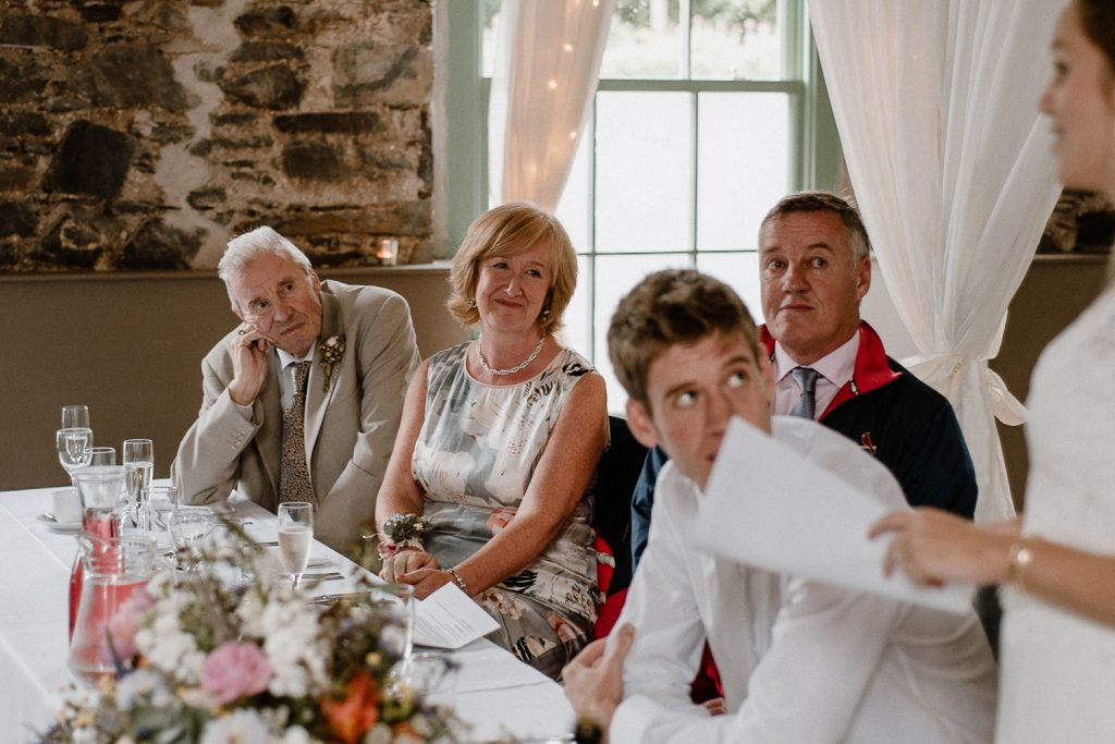 grooms mother watches on