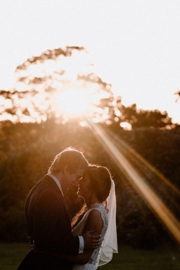 Gracehall wedding sunset