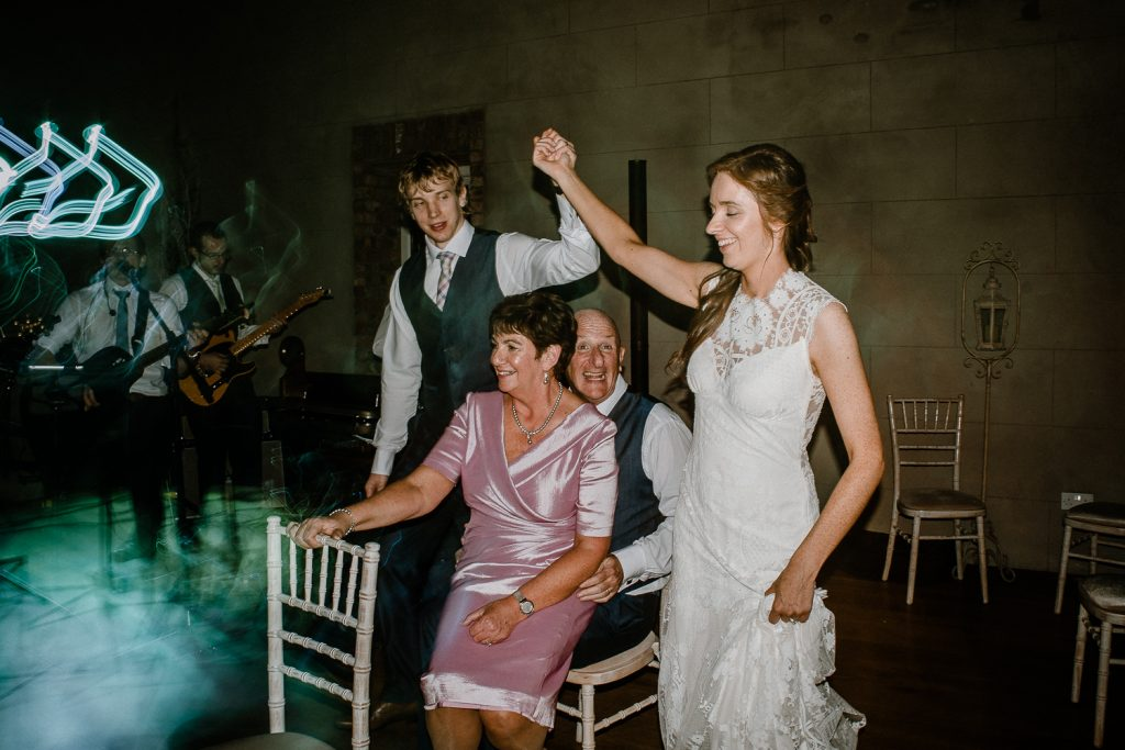 guests dancing Gracehall wedding