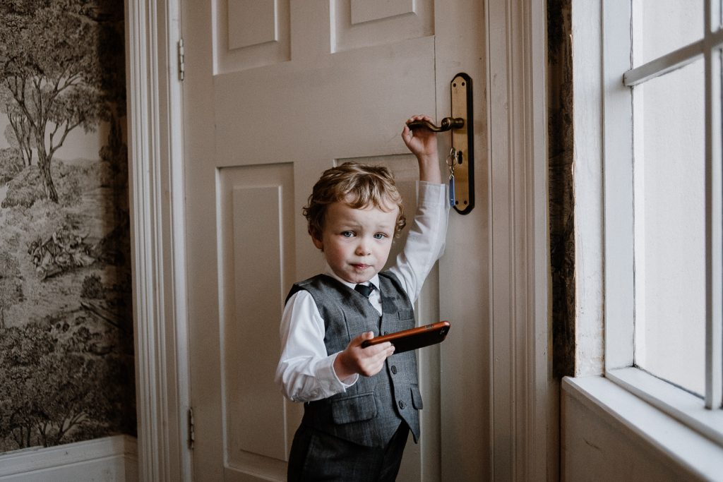 little boy dressed for wedding