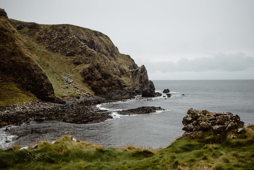 Kinbane head on the northern Ireland coast