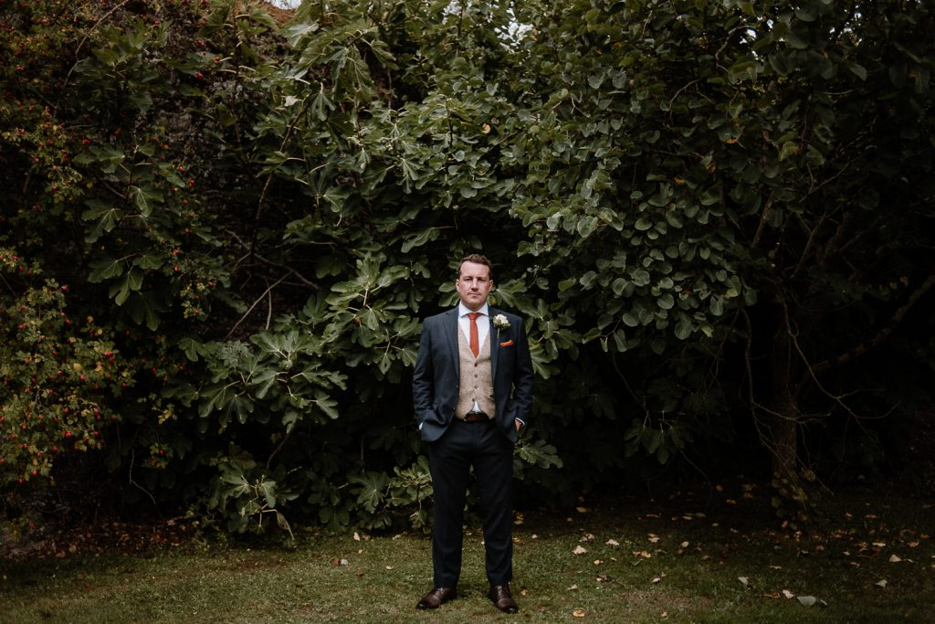 full length groom shot