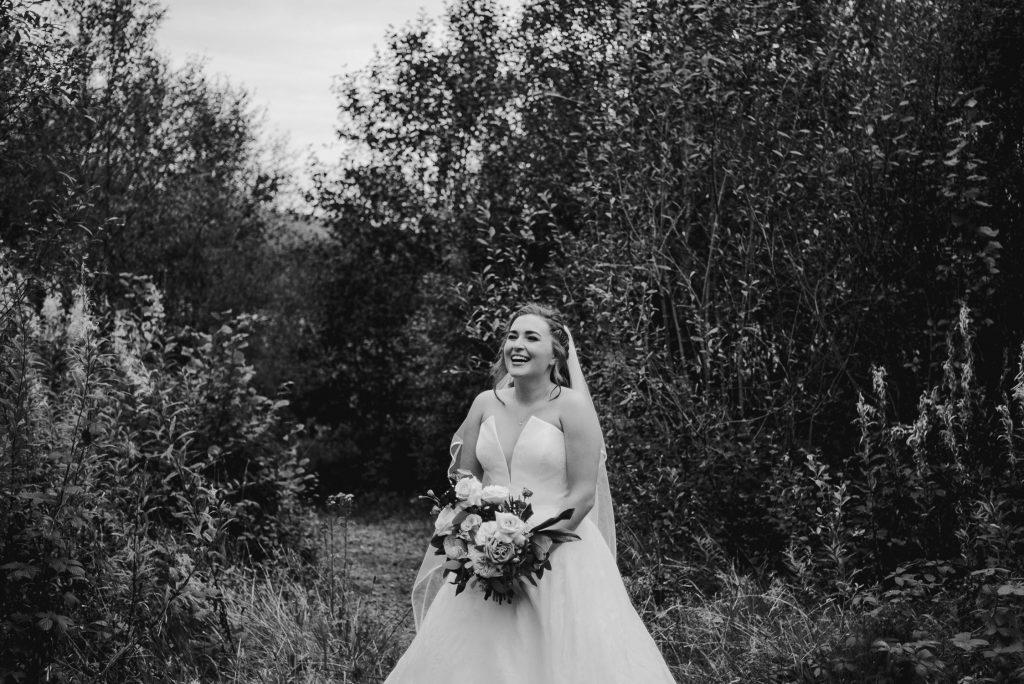 bride standing full length