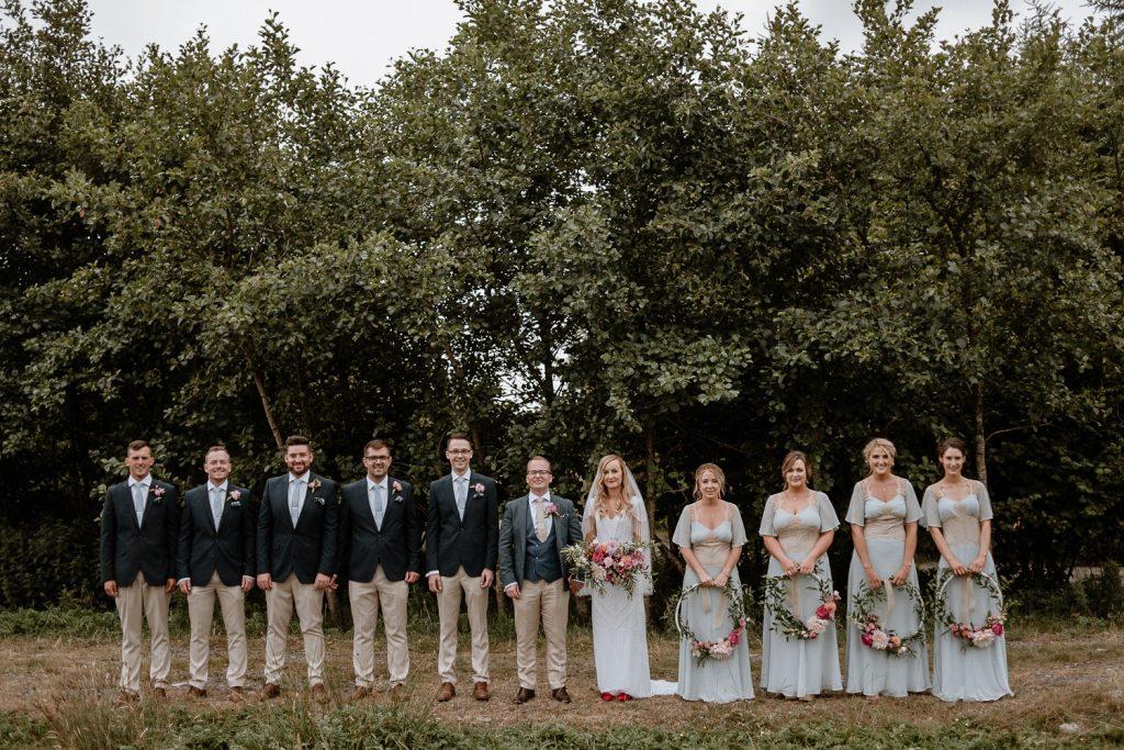 bridal party at mount druid