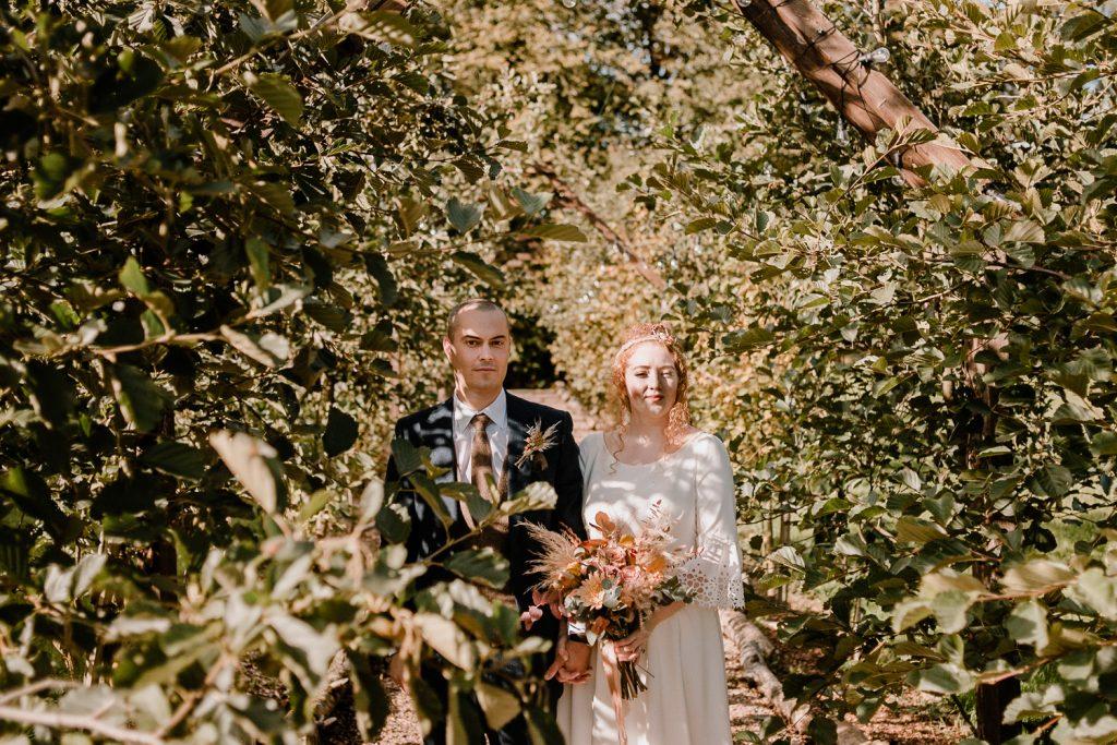 Bride and groom the wool tower wedding